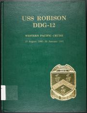 Page 1, 1981 Edition, Robison (DDG 12) - Naval Cruise Book online yearbook collection