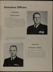 Page 15, 1957 Edition, Taconic (AGC 17) - Naval Cruise Book online yearbook collection