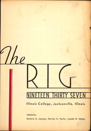 Page 9, 1937 Edition, Illinois College - Rig Yearbook (Jacksonville, IL) online yearbook collection