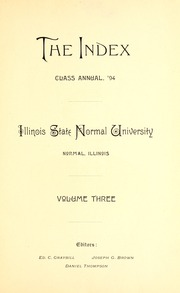 Page 11, 1894 Edition, Illinois State Normal University - Index Yearbook (Normal, IL) online yearbook collection