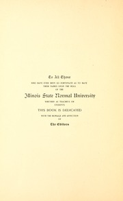 Page 12, 1894 Edition, Illinois State Normal University - Index Yearbook (Normal, IL) online yearbook collection