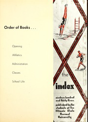 Page 5, 1933 Edition, Illinois State Normal University - Index Yearbook (Normal, IL) online yearbook collection