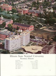 Page 7, 1962 Edition, Illinois State Normal University - Index Yearbook (Normal, IL) online yearbook collection