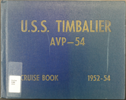 1954 Edition, Timbalier (AVP 54) - Naval Cruise Book