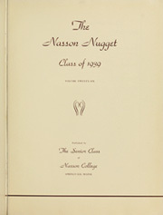 Page 5, 1939 Edition, Nasson College - Nugget Yearbook (Springvale, ME) online yearbook collection