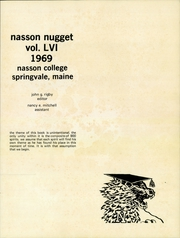 Page 3, 1969 Edition, Nasson College - Nugget Yearbook (Springvale, ME) online yearbook collection