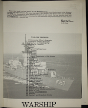 Page 5, 1982 Edition, Rathburne (FF 1057) - Naval Cruise Book online yearbook collection