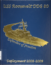Page 1, 2009 Edition, Roosevelt (DDG 80) - Naval Cruise Book online yearbook collection