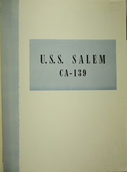 Page 5, 1950 Edition, Salem (CA 139) - Naval Cruise Book online yearbook collection