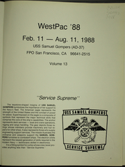 Page 5, 1988 Edition, Samuel Gompers (AD 37) - Naval Cruise Book online yearbook collection