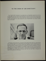 Page 7, 1973 Edition, Sanctuary (AH 17) - Naval Cruise Book online yearbook collection