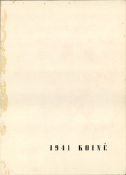 Page 5, 1941 Edition, Connecticut College - Koine Yearbook (New London, CT) online yearbook collection