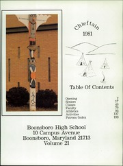 Page 5, 1981 Edition, Boonsboro High School - Chieftain Yearbook (Boonsboro, MD) online yearbook collection