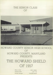 Page 5, 1957 Edition, Howard High School - Howard Shield Yearbook (Ellicott City, MD) online yearbook collection
