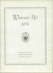 Page 7, 1951 Edition, Western High School - Westward Ho Yearbook (Baltimore, MD) online yearbook collection