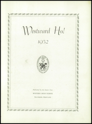 Page 7, 1952 Edition, Western High School - Westward Ho Yearbook (Baltimore, MD) online yearbook collection