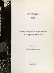 Page 7, 1964 Edition, Montgomery Blair High School - Silverlogue Yearbook (Silver Spring, MD) online yearbook collection