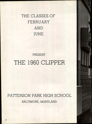 Page 6, 1960 Edition, Patterson High School - Clipper Yearbook (Baltimore, MD) online yearbook collection
