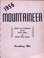 Page 7, 1956 Edition, Beall High School - Mountaineer Yearbook (Frostburg, MD) online yearbook collection