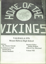 Page 5, 1976 Edition, Mount Hebron High School - Valhalla Yearbook (Ellicott City, MD) online yearbook collection