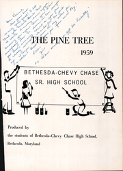 Page 5, 1959 Edition, Bethesda Chevy Chase High School - Pine Tree Yearbook (Bethesda, MD) online yearbook collection