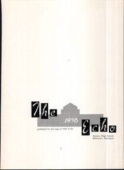 Page 5, 1958 Edition, Eastern High School - Echo Yearbook (Baltimore, MD) online yearbook collection