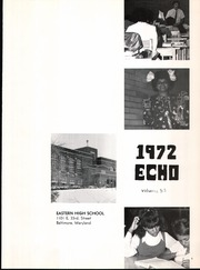 Page 5, 1972 Edition, Eastern High School - Echo Yearbook (Baltimore, MD) online yearbook collection