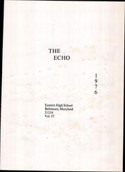 Page 5, 1976 Edition, Eastern High School - Echo Yearbook (Baltimore, MD) online yearbook collection