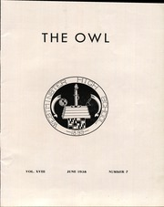 Page 7, 1938 Edition, Westminster High School - Owl Yearbook (Westminster, MD) online yearbook collection
