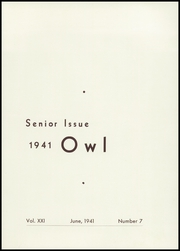 Page 5, 1941 Edition, Westminster High School - Owl Yearbook (Westminster, MD) online yearbook collection