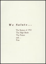 Page 8, 1941 Edition, Westminster High School - Owl Yearbook (Westminster, MD) online yearbook collection