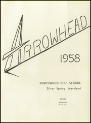 Page 5, 1958 Edition, Northwood High School - Arrowhead Yearbook (Silver Spring, MD) online yearbook collection