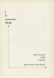 Page 7, 1936 Edition, Glen Burnie High School - Gophers Yearbook (Glen Burnie, MD) online yearbook collection