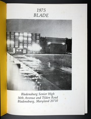 Page 5, 1975 Edition, Bladensburg High School - Peacecrosser Yearbook (Bladensburg, MD) online yearbook collection
