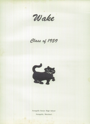 Page 5, 1959 Edition, Annapolis High School - Wake Yearbook (Annapolis, MD) online yearbook collection
