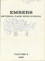 Page 5, 1968 Edition, Severna Park High School - Embers Yearbook (Severna Park, MD) online yearbook collection
