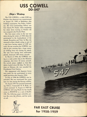 Page 8, 1958 Edition, Cowell (DD 547) - Naval Cruise Book online yearbook collection