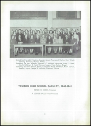 Page 13, 1941 Edition, Towson High School - Sidelights Yearbook (Towson, MD) online yearbook collection