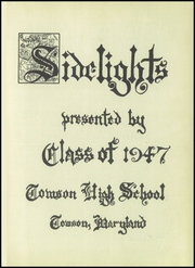 Page 5, 1947 Edition, Towson High School - Sidelights Yearbook (Towson, MD) online yearbook collection