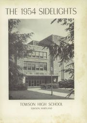 Page 5, 1954 Edition, Towson High School - Sidelights Yearbook (Towson, MD) online yearbook collection