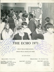 Page 7, 1971 Edition, Great Mills High School - Echo Yearbook (Great Mills, MD) online yearbook collection