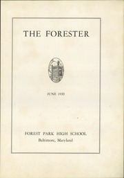 Page 7, 1933 Edition, Forest Park High School - Forester Yearbook (Baltimore, MD) online yearbook collection