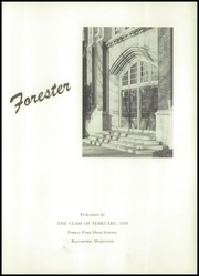 Page 7, 1950 Edition, Forest Park High School - Forester Yearbook (Baltimore, MD) online yearbook collection