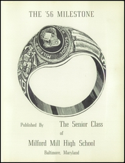 Page 5, 1956 Edition, Milford Mill High School - Milestone Yearbook (Baltimore, MD) online yearbook collection