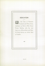 Page 10, 1933 Edition, Franklin High School - Dial Yearbook (Reisterstown, MD) online yearbook collection