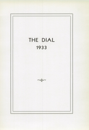 Page 9, 1933 Edition, Franklin High School - Dial Yearbook (Reisterstown, MD) online yearbook collection