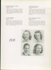 Page 11, 1939 Edition, Franklin High School - Dial Yearbook (Reisterstown, MD) online yearbook collection