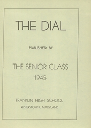 Page 5, 1945 Edition, Franklin High School - Dial Yearbook (Reisterstown, MD) online yearbook collection