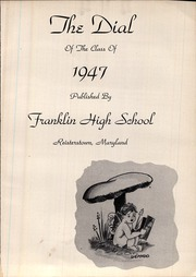 Page 5, 1947 Edition, Franklin High School - Dial Yearbook (Reisterstown, MD) online yearbook collection