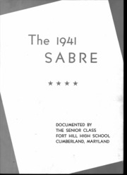 Page 6, 1941 Edition, Fort Hill High School - Sabre Yearbook (Cumberland, MD) online yearbook collection